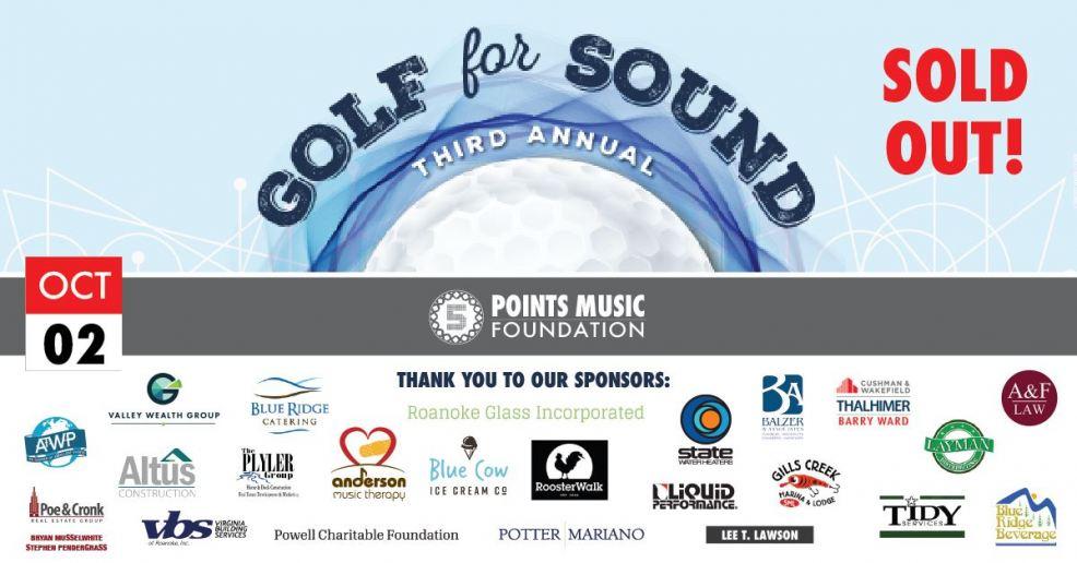 Oct. 2: Golf for Sound Benefit Tournament