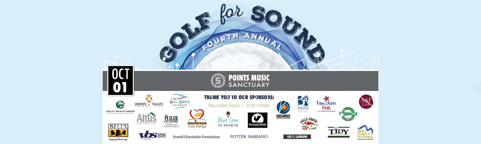 4th Annual Golf for Sound Tournament   Oct 1