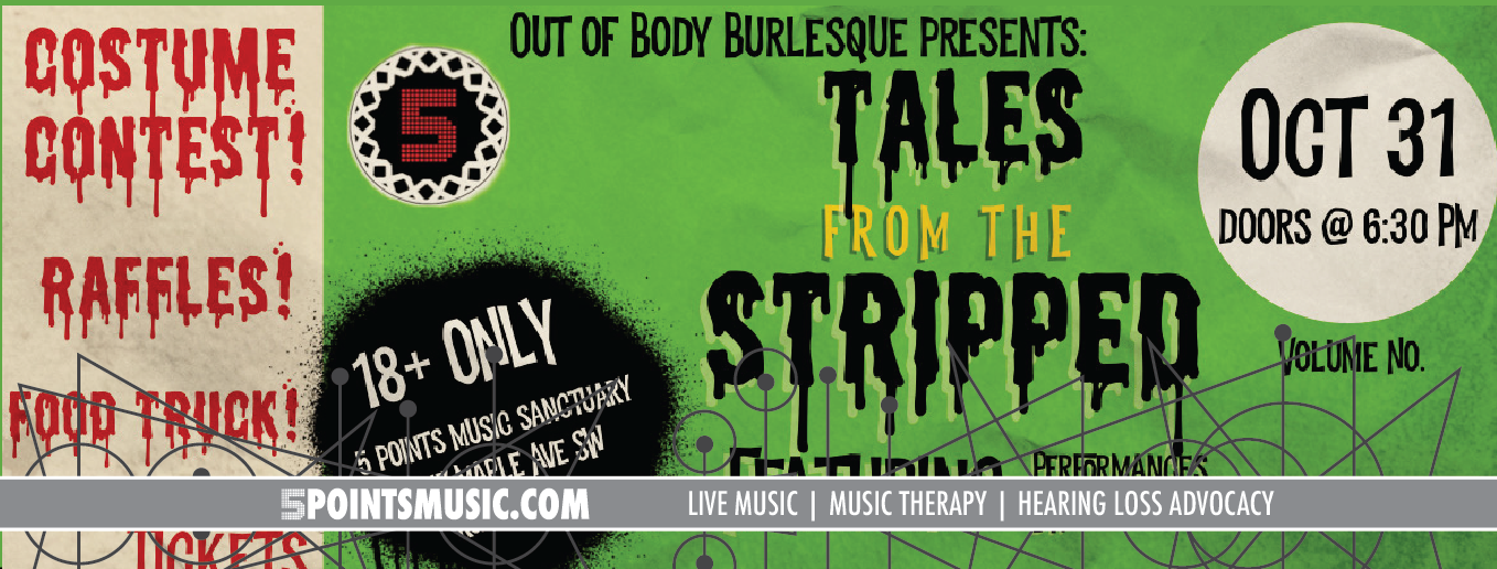 Tales From The Stripped: Halloween Burlesque Bash October 31